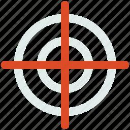 crosshair, dart, focus, game, target icon icon