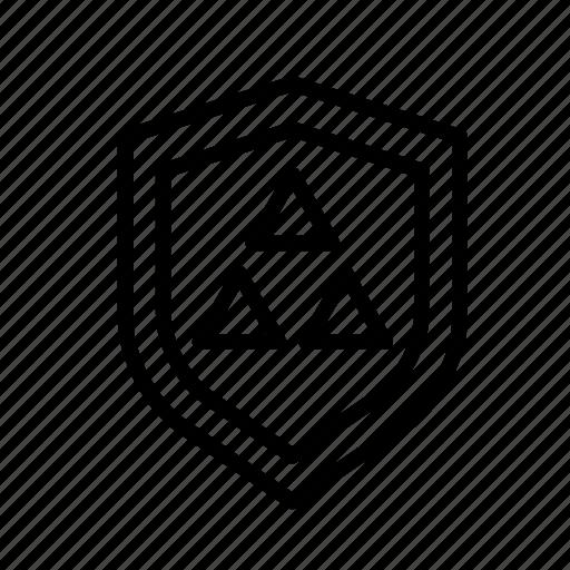 entertainment, freetime, fun, gaming, protection, securitytriangle, shield icon