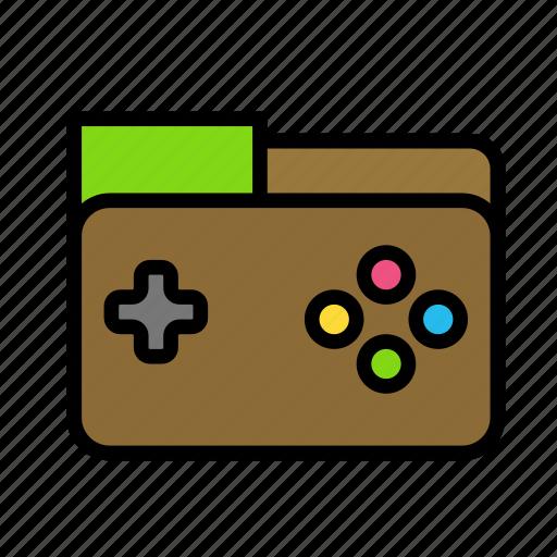 entertainment, folder, freetime, fun, game, gaming icon