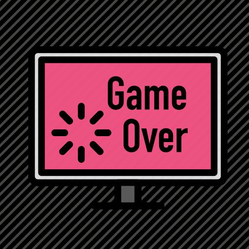 entertainment, freetime, fun, game, gaming, over icon