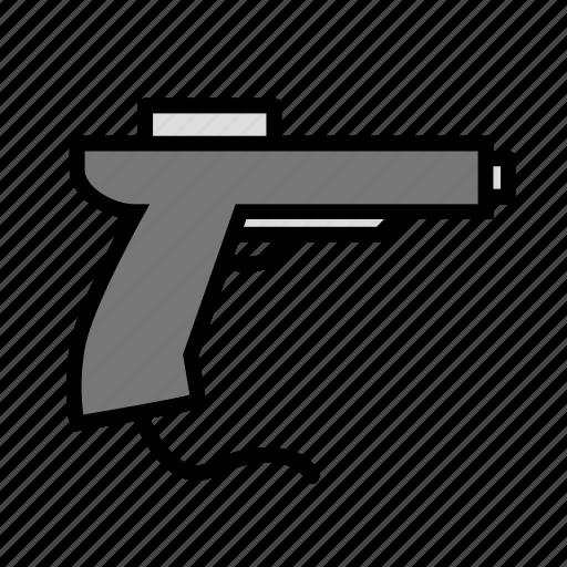 entertainment, freetime, fun, gaming, pistol icon
