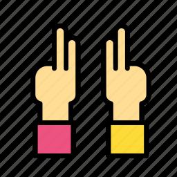 entertainment, freetime, fun, gesture, paper, rock, scissors icon