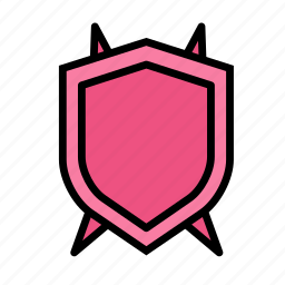 entertainment, freetime, fun, gaming, protection, securitybad, shield icon