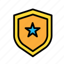 entertainment, freetime, fun, gaming, protection, securitystar, shield icon