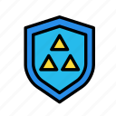 entertainment, freetime, fun, gaming, protection, securitytriangle, shield icon