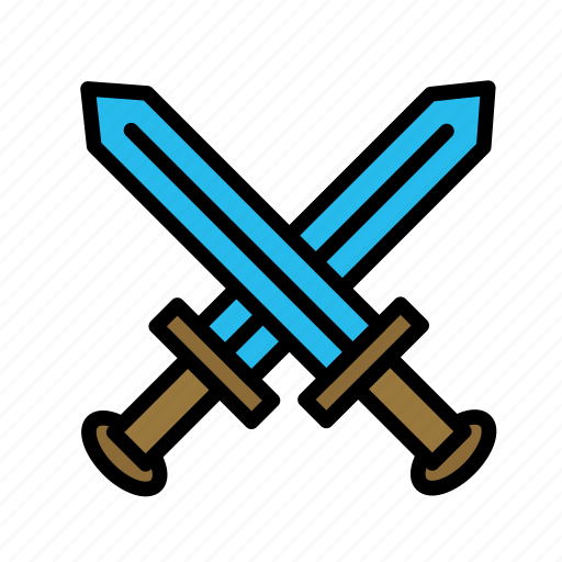 entertainment, freetime, fun, gaming, swords icon