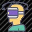 br, glasses, rotate, side, user, virtual