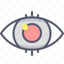 eye, focus, highlight, vision