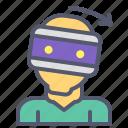 glasses, right, rotate, user, virtual, vr