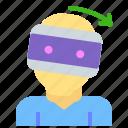 glasses, right, rotate, user, virtual, vr icon