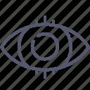 eye, focus, highlight, vision icon