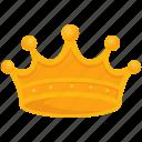 crown, game, gaming, jewel, king, monarch, reward icon