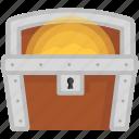 chest, game, gold, golden chest, pirates, treasure icon