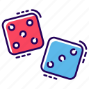 casino, dice cube, gambling, indoor dice game, luck game icon