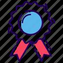achievement badge, award badge, badge, ribbon badge, star badge, winner badge icon