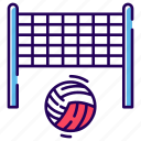 ball, game, playbill, sports, sports ball, volleyball, volleyball net icon