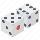 board game, casino, crap game, dices game, gambling, gaming, ludo dices icon