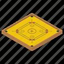 carrom board, carrom cuff, carrom dice, family game, game board, indoor game icon
