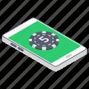 casino chip, gambling app, game app, mobile app, mobile casino, portable casino icon