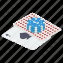 card game, casino chips, gambling, gambling chips, gambling poker, poker chips icon
