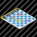 bingo board, bingo game, game board, indoor bingo, lottery board icon