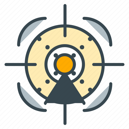 action, aim, aiming, focus, game, shoot, target icon