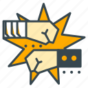 boxing, fight, fighting, game, gaming, play icon