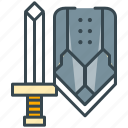 armor, computer, game, gaming, playing, role, sword icon