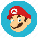 entertainment, gaming, hero, leisure, mario, player icon