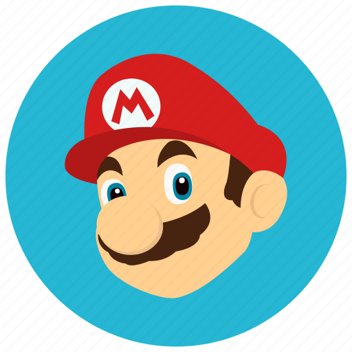 entertainment, gaming, hero, leisure, mario, player icon