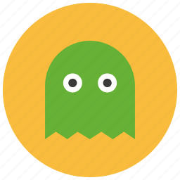 entertainment, gaming, leisure, monster, pacman, retro, vintage icon