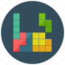 arcade, electronic, gaming, retro, tetris, vintage icon