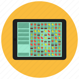 color, electronic, gaming, puzzle, tablet, technology icon
