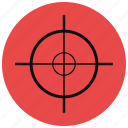 bullseye, crosshair, gaming, hunting, shooting, target icon