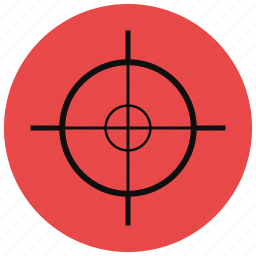 bullseye, crosshair, gaming, hunting, shooting, target icon