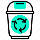 bin, conversation, recycle, reuse, trash icon