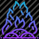 fire, destroy, burn, incineration, destruction