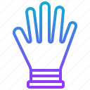 glove, hand, protection, rubber, support icon