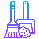 brush, cleaning, equipment, mop, sweep icon
