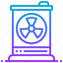 barrel, bin, hazard, trash, waste icon