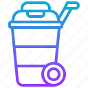 bin, cart, dustbin, trash, wheelie icon