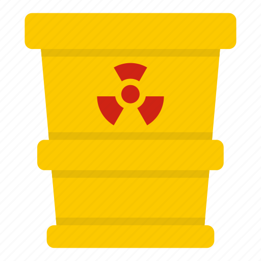 bin, can, container, nuclear, radiation, trash, waste icon