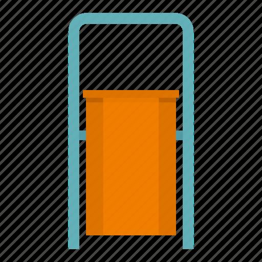 bin, container, garbage, orange, outdoor, trash, waste icon