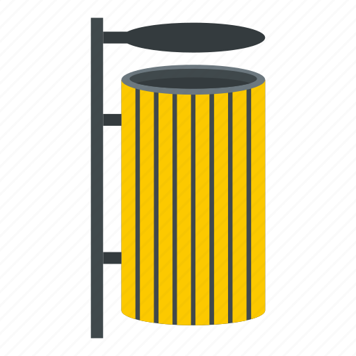 container, garbage, lid, outdoor, street, trash, waste icon