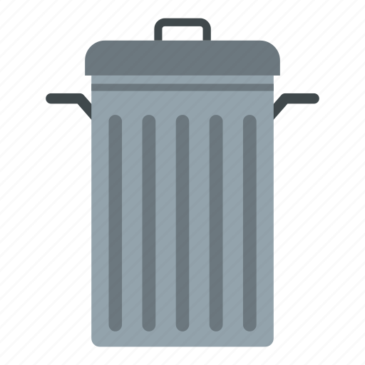 container, garbage, lid, metal, outdoor, trash, waste icon