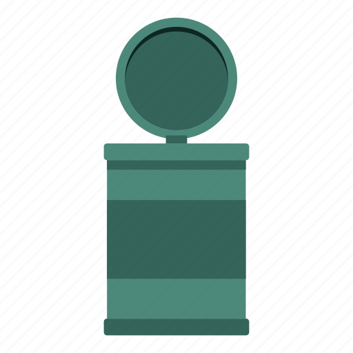 Bin, can, container, garbage, metal, recycle, trash icon - Download on Iconfinder