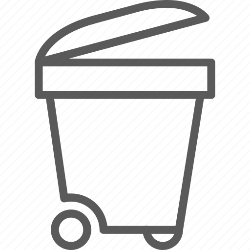 bin, can, garbage, recycle, trash, trashcan, waste icon