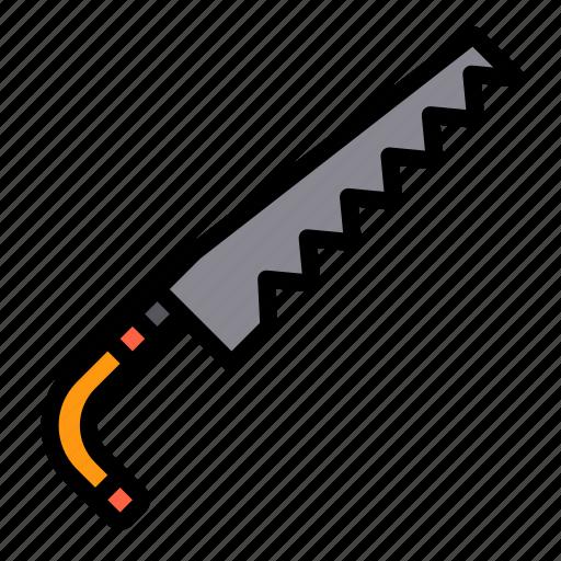 equipment, garden, plant, saw, tool icon