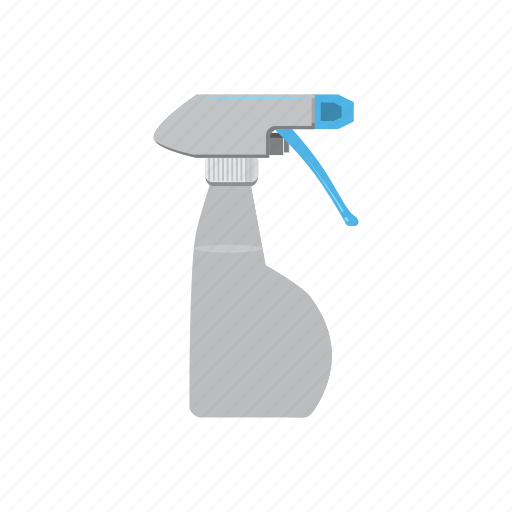bottle, cartoon, clean, cleaner, container, plastic, spray icon