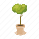 branch, cartoon, garden, leaf, pot, seed, tree icon